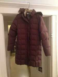 Down filled winter coat size S-M