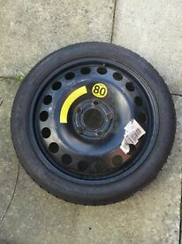Space saver spare wheel and decent tyre