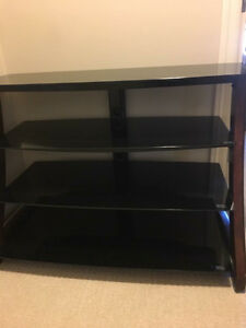 4 tier glass TV stand