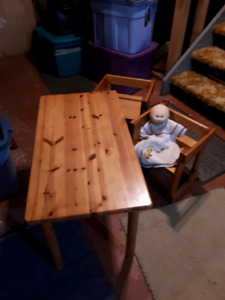 Child table and two chairs from ikea