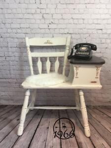 Table-téléphone Vintage, revalorisée