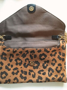 "J CREW Leopard SUEDE ""Invitation"" Envelope CLUTCH/CROSSBODY London Ontario image 6"
