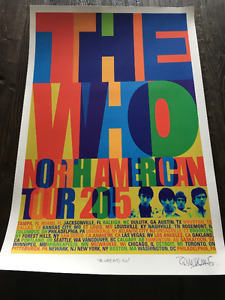 The Who - 2015 North American Tour VIP Lithograph