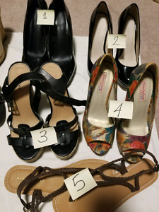 Shoes - $5 each or $20 for all 5 pairs