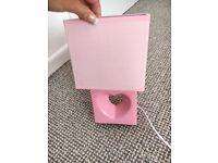 Pink heart lamp