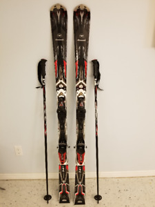 NEW Rossignol skis,bindings & matching poles + bag $625