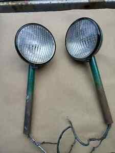 Vintage hot rod rat rod headlights refinished