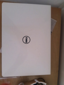 White dell  laptop  for sale in a good condition