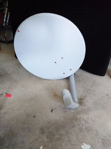 Bell ExpressVu satellite dish and 2 receivers
