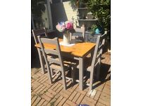 Pine dining table & 4 pine chairs