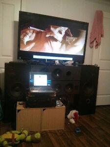 Living room entertainment center.