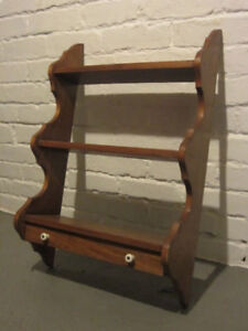 Solid Wood Wall Display Shelf