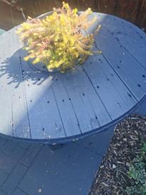 Wood made garden table