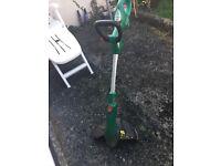 Broken lawn trimmer