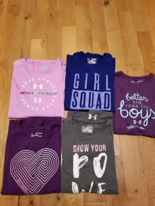 Under armour girls youth t shirts