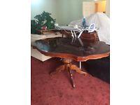 Designer carved wooden dining table