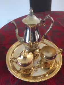 Three Piece Coffee Set & Cutlery - GOLD PLATED