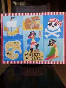 Pirate Wrapped Canvas Print/Painting for Kids Room Cambridge Kitchener Area image 1