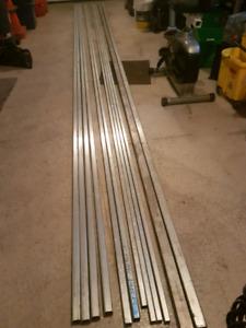 Aluminum square tubes 6061 T6 .
