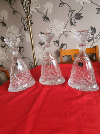 3x Royal Doulton crystal Glass Decanters