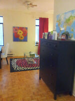 Large 1 bedroom apartment excellent location in the Plateau