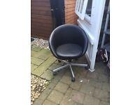 Black hairdresser chair