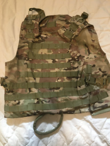 Two Paintball Tactical Vests MULTI CAM and BLACK