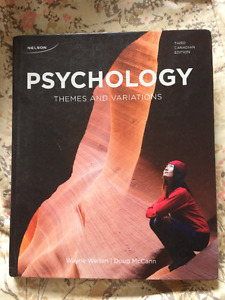 Psychology Themes and Variations HARDCOVER TEXTBOOK