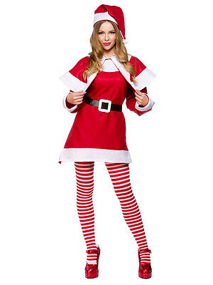 Adult Xmas Budget Mrs Santa Claus Suit New Fancy Dress Christmas Costume Ladies