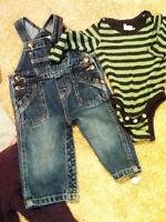 Baby Gap Long sleeve onsie, Joe Denim overalls