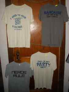 Four Graphic Tees  Size Small