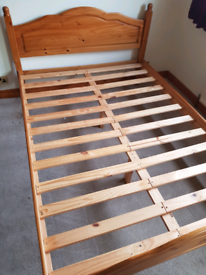 Solid Pine 4.6 Double Bed Base.
