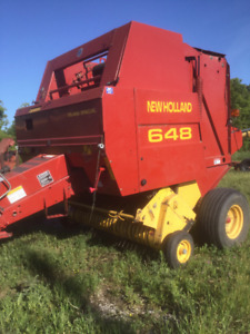 NH 648 Round Baler with net and Twine