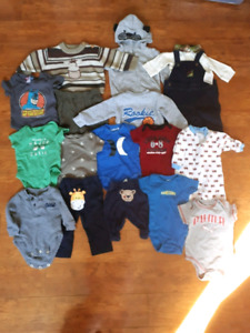 PRICE DROP! Huge lot of baby boys clothing 0-12 months