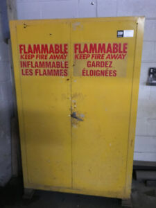 Flammable material cabinet