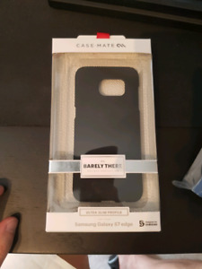 Samsung Galaxy S7 Edge Phone Case - Barely There Black Casemate