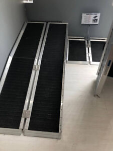 4ft wheelchair ramp, easy to carry with handle NO TAX