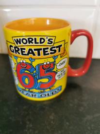 Worlds Greatest 65 year old mug