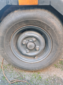 "WANTED: 4"" trailer wheel and tyres x2"