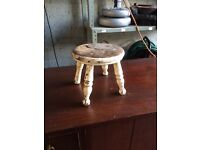 Antique 4 legged dolls chair / shabby chic decoration £8