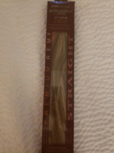 Brand new Dark blonde frost clip in extensions