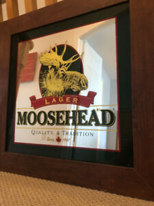 Moosehead Beer Mirror - RARE!