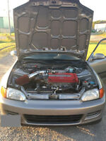 ****1995 EJ1 Honda Civic Coupe Si, B16a, A/C, clean car No Rust