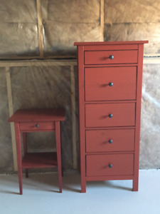 Lingerie Dresser and Night Stand