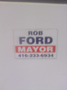 Own part of history Mayor Rob Ford fridge magnet best offer wins