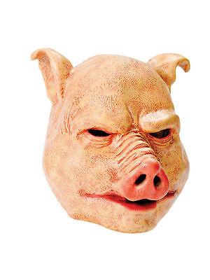 Horror Schwein über # Kopf Gummimaske für Erwachsene Einheitsgröße - Schwein Kopf Kostüm Maske