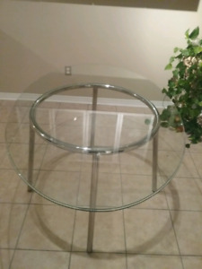 """Oval Glass Dining Table 60"""" x 39.5"""""""