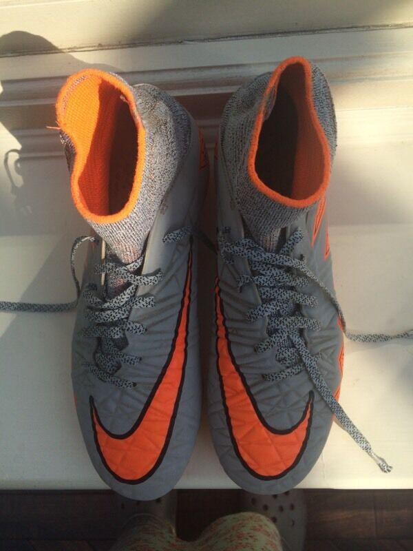 Boys Nike Hypervenom Sock Stud Football Boots UK 3.5