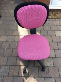 Pink Swivel Office Chair