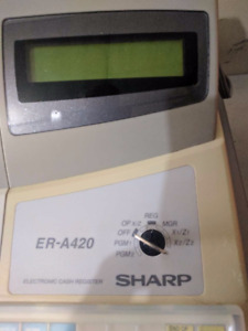 Cash Register - Sharp ER A420, used, excellent, keys, rolls, box